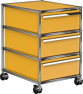USM Haller Rollcontainer mit 3 Schubladen - goldgelb RAL 1004/41.8 x 60.5 x 52.3 cm