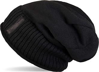 styleBREAKER Warm fine Knit Beanie hat with Very Soft Fleece Lining, Toque, Unisex 04024065, Colour:Black