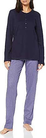 Seidensticker Anzug Kurz Pigiama Donna Blu 46 Hellblau 805
