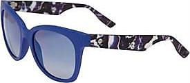 Alexander McQueen wayfarer sunglasses with contrasting patterned arm detail
