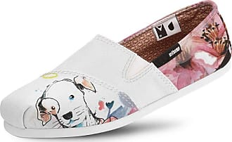 Usthemp Alpargata Usthemp Slim Vegano Casual Art Dog and Flowers Branco 36