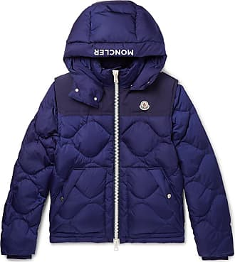 Moncler Arles Quilted Shell Hooded Down Jacket With Detachable Sleeves -  Royal blue e2a7905dc16ce