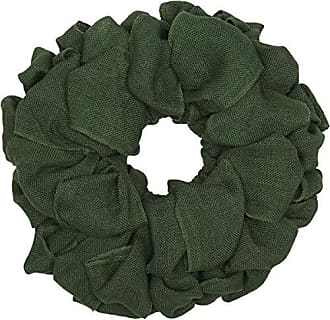 VHC Brands Christmas Holiday Decor - Burlap Round Wreath, 15 x 15, Green