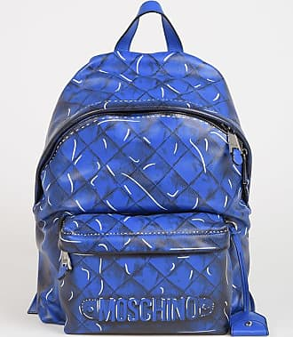 Moschino Printed Leather Backpack Größe Unica