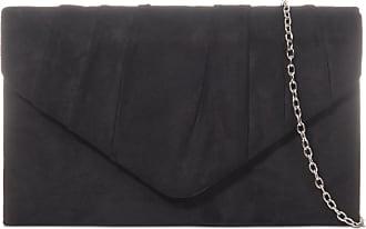 LeahWard Womens Suede Clutch Handbags Purse Wedding Bags 308 (Black)