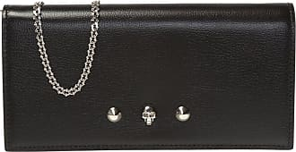Alexander McQueen Wallet With Chain Womens Black