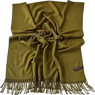 CJ Apparel Olive Green Thick Solid Colour Design Cotton Blend Shawl Scarf Wrap Pashmina CJ Apparel NEW, One Size