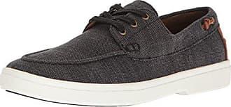 Aldo Mens Glamosa Boat Shoe Black Leather 11 D US