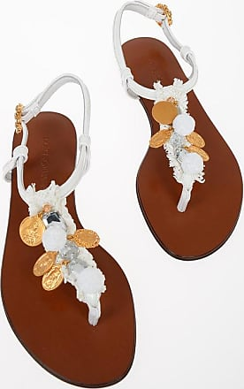 Dolce & Gabbana Thong Sandals with Jewel Applications Größe 35