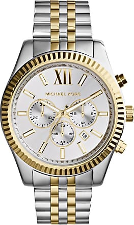 Michael Kors MK8344 Lexington Watch Silver and Gold-Tone