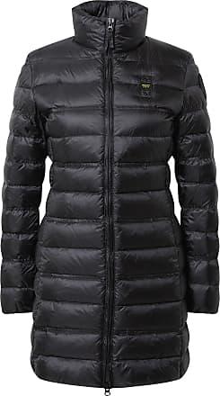 Blauer Jacke schwarz