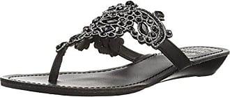 Yellow Box Womens P-Amee Heeled Sandal, Black, 10 Medium US