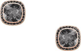 Swarovski Brincos Lattitude Stud, Cinza, Metal Rose Gold