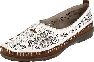 Remonte Ladies Summer Shoes D1931-80 - White Combination Leather - UK Size 7.5 - EU Size 41 - US Size 9.5