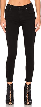 Citizens Of Humanity Rocket High Risky Crop Skinny in Black
