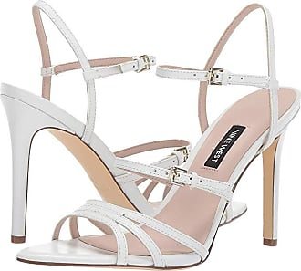 b27ff6e76a8f Nine West Gilficco Strappy Sandals (White) Womens Shoes