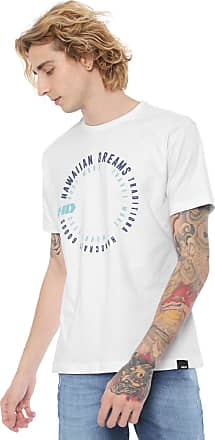 Hawaiian Dreams Camiseta HD Estampada Swirl Branca