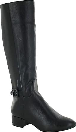 Spot On Ladies Spot On Knee Length Boots F50042 Black~UK5