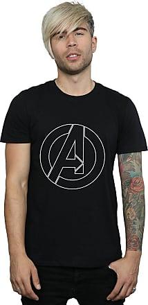 MARVEL Mens Avenegers Assemble A Logo Outline T-Shirt XX-Large Black