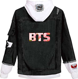 EmilyLe Ladies Love Yourself Hoodie Kpop BTS Map of The Soul Persona Jeans Outerwear Jin Suga J-Hope RM Jimin V Jung Kook (2XL, C White Flower)