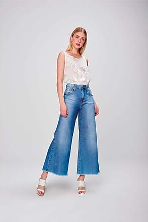 Damyller Pantalona Jeans Cropped Barra Desfiada Tam: 38 / Cor: BLUE