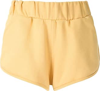 Andrea Bogosian Short Panama estampa aplicada - Amarelo