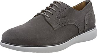 Geox Mens Winfred 1 Oxford, Dark Grey, 46 M EU (12.5 US)