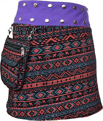 Gheri Floral Short Popper Removable Pocket Reversible Cotton Skirt D