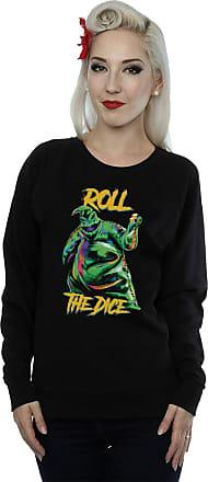 Disney Womens Nightmare Before Christmas Oogie Boogie Dice Sweatshirt Large Black