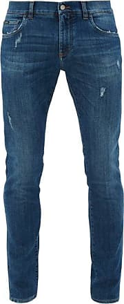 Dolce & Gabbana Distressed Slim-leg Jeans - Mens - Blue
