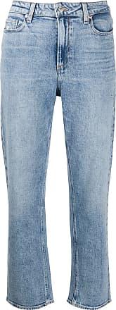 Paige Calça jeans cropped cintura alta - Azul