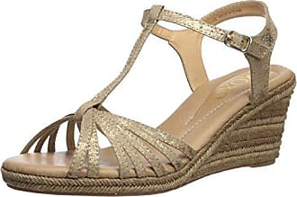xoxo Womens Syracuse Espadrille Wedge Sandal, Gold, 8 M US