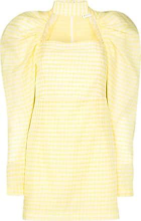 Rotate Vestido Kaya xadrez - Amarelo
