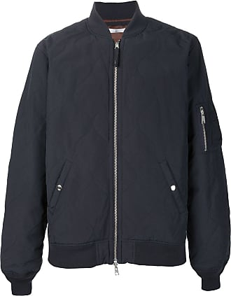 321 quilted zipped bomber jacket - Black