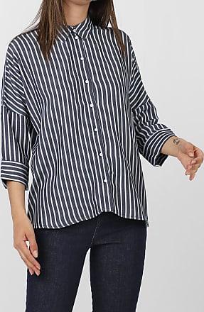 Only Camisa Only Listrada Azul-Marinho