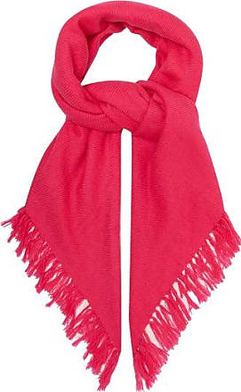 Isabel Marant Zila Fringed Cashmere And Wool-blend Scarf - Womens - Pink