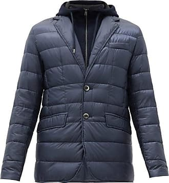 Herno Hooded Insert Quilted-down Jacket - Mens - Blue