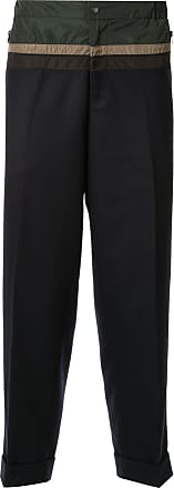 Kolor contrasting panelled tapered trousers - Black