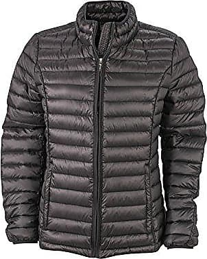 10cb6e162ddef6 James & Nicholson Damen Jacke Jacke Ladies Quilted Jacket schwarz (Black)  X-Large