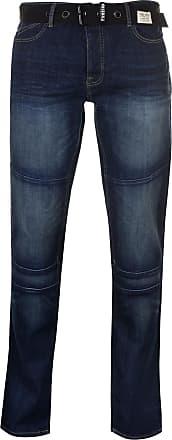 Firetrap Mens Portland Jeans Tapered Pants Trousers Bottoms Dark Wash 54 Regular