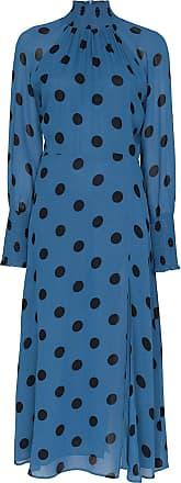 Reformation Vestido Valentin midi de poás - Azul