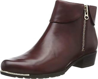 Caprice Womens Kelli Ankle Boots, Red (Bordeaux Nappa 540), 6.5 UK