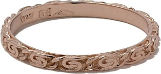 Wouters & Hendrix 18kt rose gold Snail Diamond Chain ring - PINK GOLD