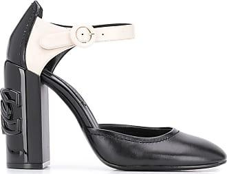 Casadei Sapato com placa de logo e salto 110mm - Preto