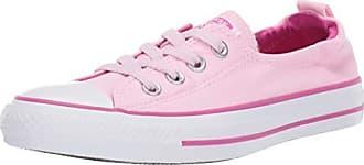 Converse Womens Chuck Taylor All Star Shoreline Linen Slip On Sneaker, Pink Foam/Active Fuchsia/White 8 M US