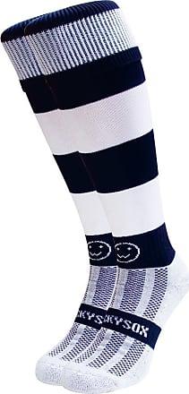 Wackysox Rugby Socks, Hockey Socks - Navy and White Hoop Sports Socks