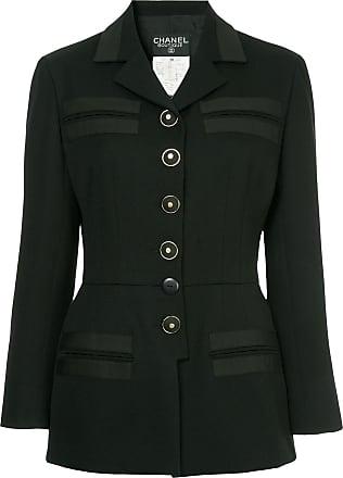 Chanel welt pockets fitted jacket - Black