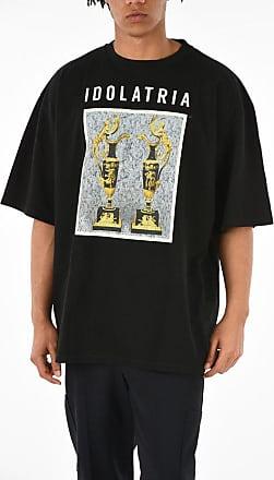 FAUSTO PUGLISI T-shirt Oversized IDOLATRIA con Stampa taglia Xs