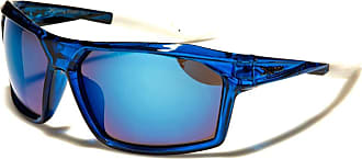 X Loop New BNWT XLoop Unisex Sport Wrap Sunglasses Fit Head Size 56-59cm UV400 Protection6 Colour Choice (crystal blue frame mirror blue lens)