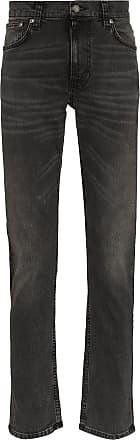 Nudie Jeans Calça jeans slim Lean Dean Mono cropped - Cinza